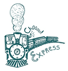 express steam train print for kids vector image