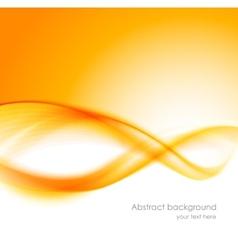 Abstract orange wavy background vector image