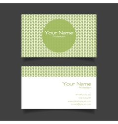 Business card template vector image