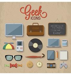 Geek accessories vector image