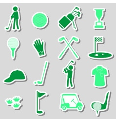 golf sport simple black stickers set eps10 vector image vector image