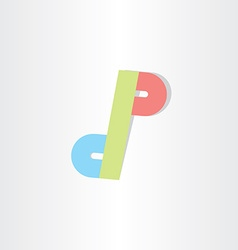 letter d and p icon design vector image vector image