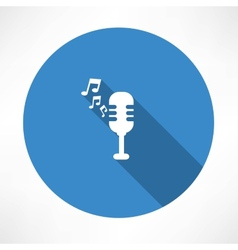 Microphone and melody icon vector image vector image