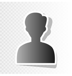 user avatar anonymous sign vector image