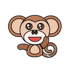 draw monkey animal comic vector image vector image