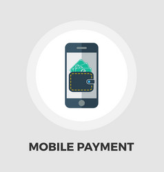mobile payment icon flat vector image vector image