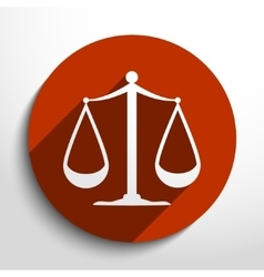 scales balance web icon vector image