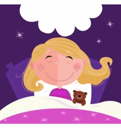 sleeping and dreaming vector image vector image