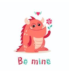 Valentine monster vector image