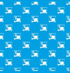 3d printer pattern seamless blue vector