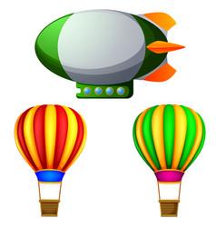 a set of hot air balloons vector image