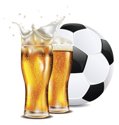 Beer and Soccer Ball3 vector