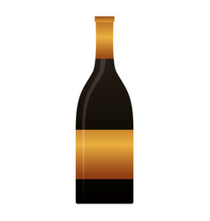 bottle champagne on white background vector image