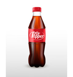 Bottle soda carbonated drink vector