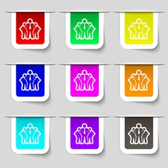 business team icon sign Set of multicolored modern vector image