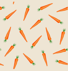 carrot vegetables seamless pattern on orange vector image