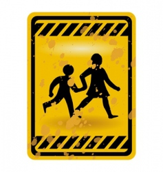 children playing sign vector image