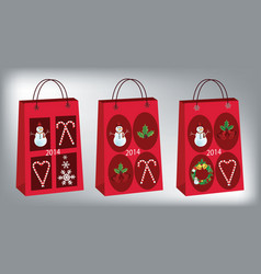 Christmas shopping bags vector image