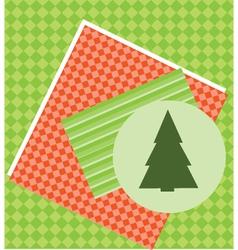 Christmas Tree Card Template vector image