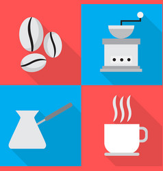 coffee icons in sequence cooking vector image