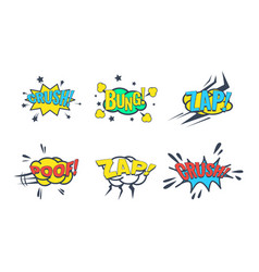 comic speech bubble with text set sound vector image