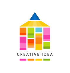 creative idea logo original template with abstract vector image