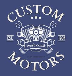 Custom motor t-shirt print design vector