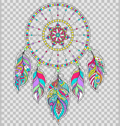 Dreamcatcher on transparent background vector
