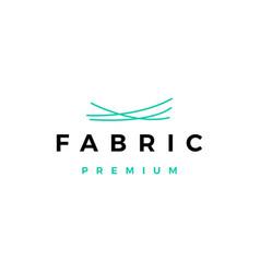 fabric logo icon vector image