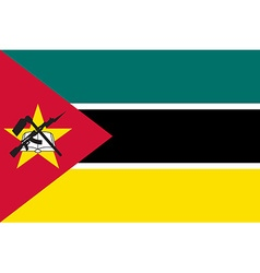Flag of Mozambique vector
