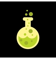 Flat icon on background halloween potion bottle vector