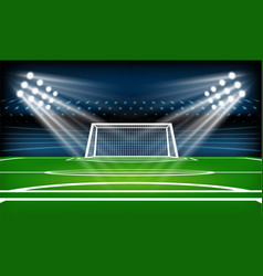 Football or soccer playing field sport game vector