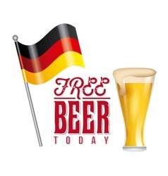 free beer offer poster vector image