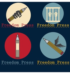 Freedom press concept design template vector