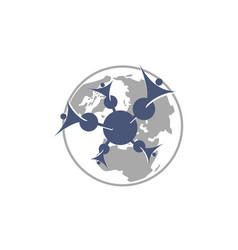 global community logo design template vector image