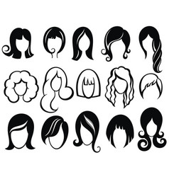 hairstyle silhouette vector image