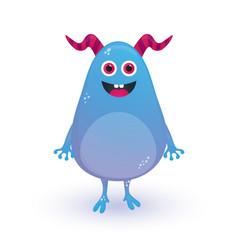 happy cartoon monster halloween monster vector image