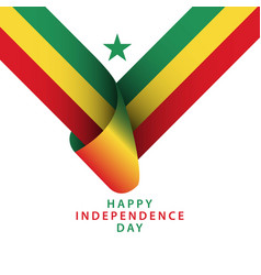 Happy senegal independence day template design vector