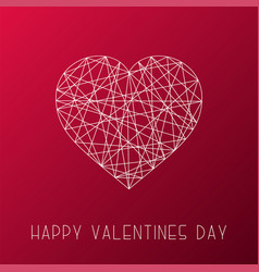 happy valentines day card stylish vector image