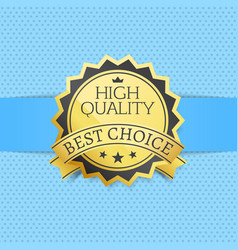 high quality best choice exclusive golden label vector image
