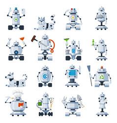 home robots set vector image