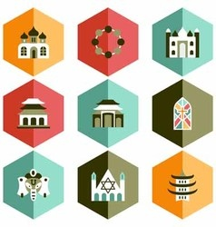 Icon place worship vector