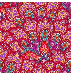 Indian ethnic seamless pattern with hand drawn vector