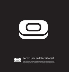 Isolated sponge icon soap element can be vector