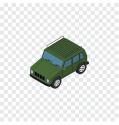 isolated suv isometric armored element ca vector image