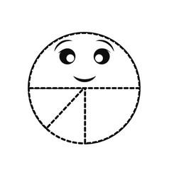 Kawaii pie chart icon vector