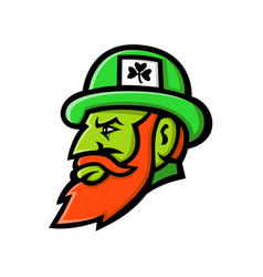 Leprechaun head mascot vector