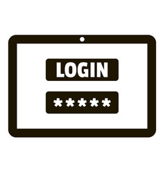 login password security icon simple style vector image