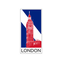 london logo poster or card design in national vector image