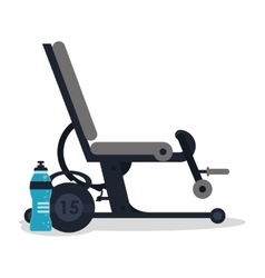 Machine and healthy lifestyle design vector